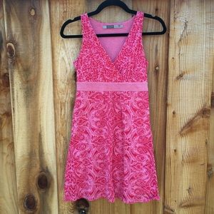 Athleta Las Palmas Printed Jersey Dress Pink XS